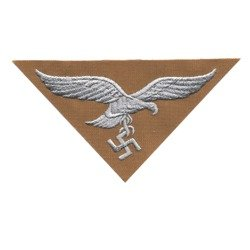 Adler LW DAK - Luftwaffe tropical breast eagle - embroidered on khaki cotton - trapezoid version