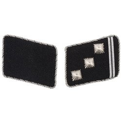 Early SD collar tabs - Obersturmführer - repro