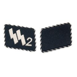 Early SS-VT collar tabs - Germania Regiment - nr 2 - repro