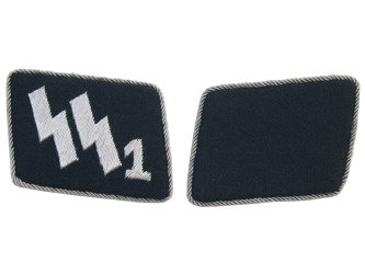 Early SS-VT officer collar tabs - Deutschland Regiment - nr 1 - repro