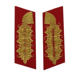 Feldmarschall collar tabs - embroidered - repro