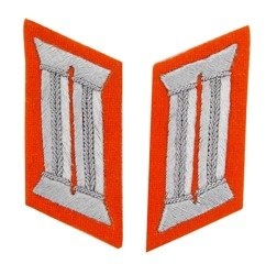 Gendarmerie officer collar tabs - orange