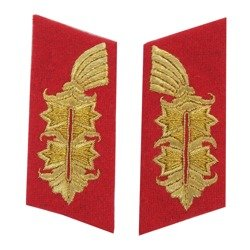 General collar tabs - embroidered - repro