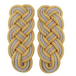 General shoulder boards - white piping - repro