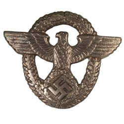 German Police eagle for caps - metal repro