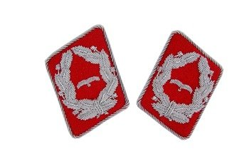 LW anti-aircraft artillery collar tabs - Major - pair - repro