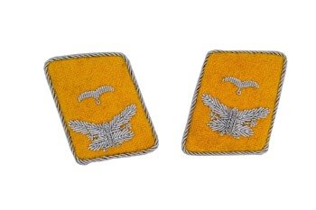 LW flying servicemen collar tabs - Leutnant - pair - repro
