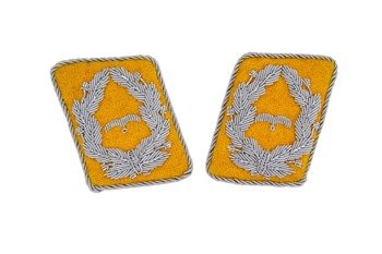 LW flying servicemen collar tabs - Major - pair - repro