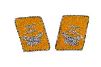 LW flying servicemen collar tabs - Oberleutnant  - pair - repro