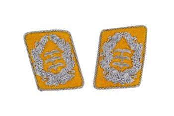 LW flying servicemen collar tabs - Oberst - pair - repro