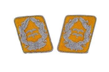 LW flying servicemen collar tabs - Oberstleutnant - pair - repro