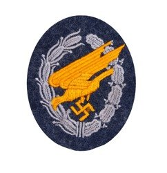 LW paratrooper patch - blue grey wool - repro