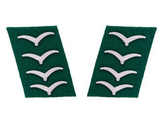 Luftwaffe collar tabs - field divisions,Hauptgefreiter rank - repro