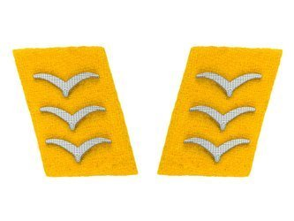 Luftwaffe collar tabs - flying personnel, Obergefreiter- repro