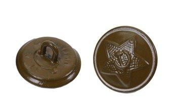 M1936 large uniform button - khaki - surplus