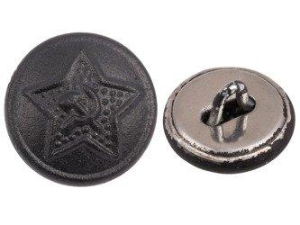 M1936 uniform button - steel - black - repro