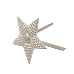 M1943 silver rank star for higher officers shoulder straps - repro