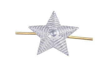 M1943 silver rank star for shoulder straps - 20 mm - surplus