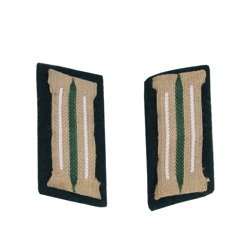 M35 Kragenspiegel - WH collar tabs for infantry - early type on wool - repro