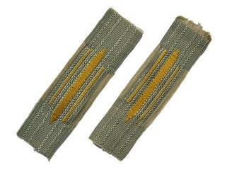 M38 Kragenspiegel - DAK collar tabs - yellow - repro