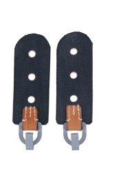 M39 Tornister flaps for Y-straps - black - pair - repro