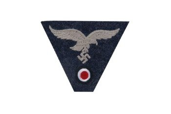 M43 trapezoid insignia - LW, embroidered, blue grey - repro
