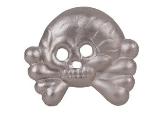 Metal skull for armoured collar tabs - 1 piece - repro