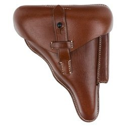 P08 police holster - brown - repro
