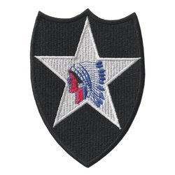 Patch of 2nd US Infantry Division - repro
