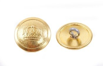 Prussian buttons with crown - diameter 21 mm - brass - repro