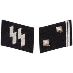 SS collar tabs - Hauptscharführer - repro