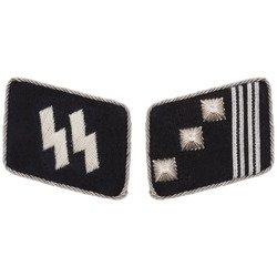 SS collar tabs - Hauptsturmführer - repro