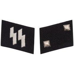 SS collar tabs - Oberscharführer - repro