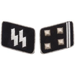 SS collar tabs - Obersturmbannführer - repro