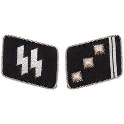 SS collar tabs - Obersturmführer - repro