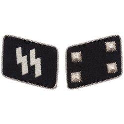 SS collar tabs - Sturmbannführer - repro