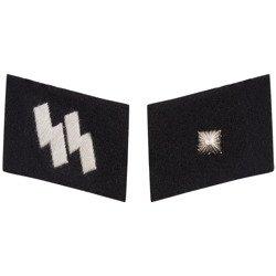 SS collar tabs - Unterscharführer - repro