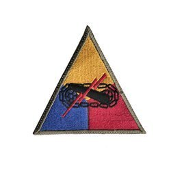 Staff patch of US Armored Division - repro