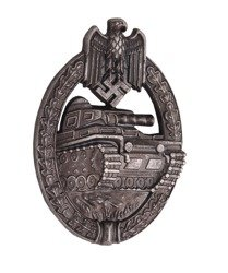 Tank Assault badge - silver - antique effect - repro