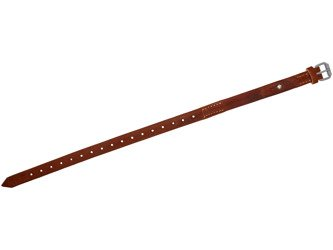Tent quarter/Equimpent strap with button - brown - repro