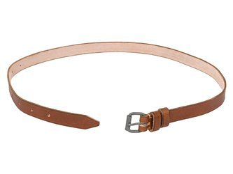 Trouser belt - leather - brown - repro