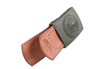 WH leather tab for belt - brown - repro