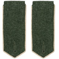 WW1 Prussian EM shoulder boards - white piping - repro