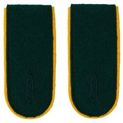 Wehrmacht Heer M36 enlisted shoulder boards - cavalry