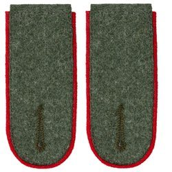 Wehrmacht Heer M40 enlisted shoulder boards - artillery