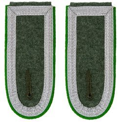 Wehrmacht Heer M40 senior NCO shoulder boards - mountain troops