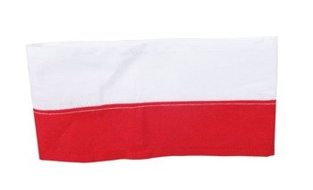 White and red Polish Home Army armband - blank