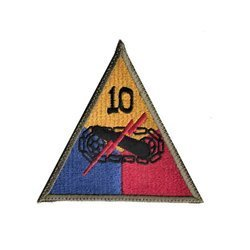 patch of 10th US Armored Division - repro