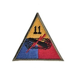 patch of 11th US Armored Division - repro