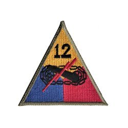 patch of 12th US Armored Division - repro